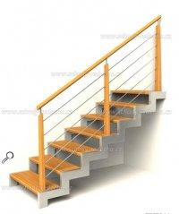 kombinované schodiště